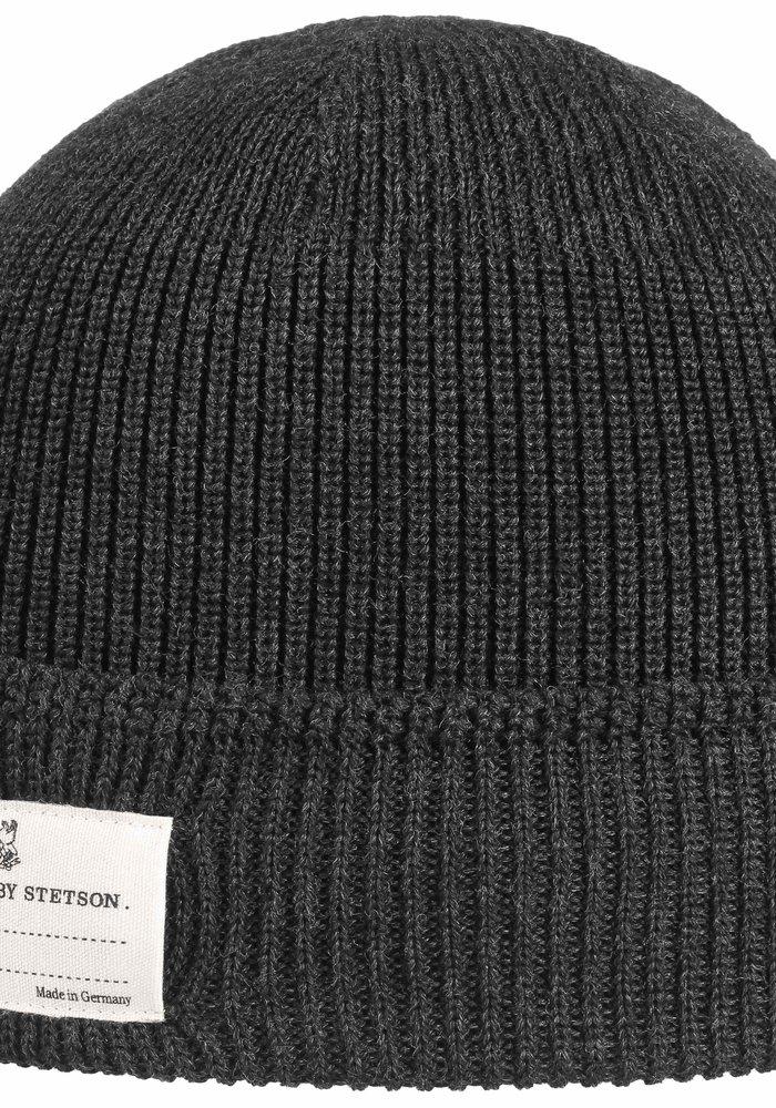 Stetson 8599319 33 Beanie Merino Wool Anthracite