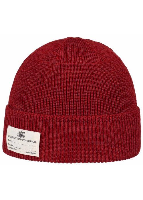 Stetson Stetson 8599319 8 Beanie Merino Wool Red
