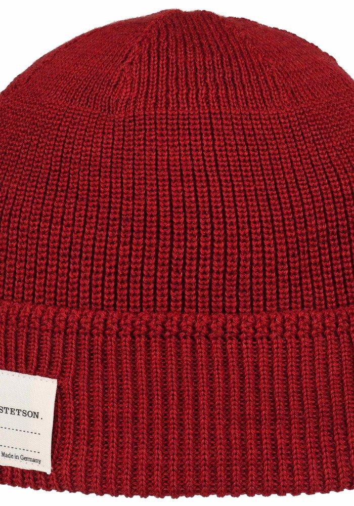 Stetson 8599319 8 Beanie Merino Wool Red