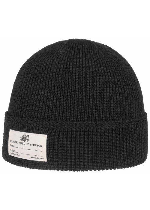 Stetson Stetson 8599319 1 Beanie Merino Wool Black