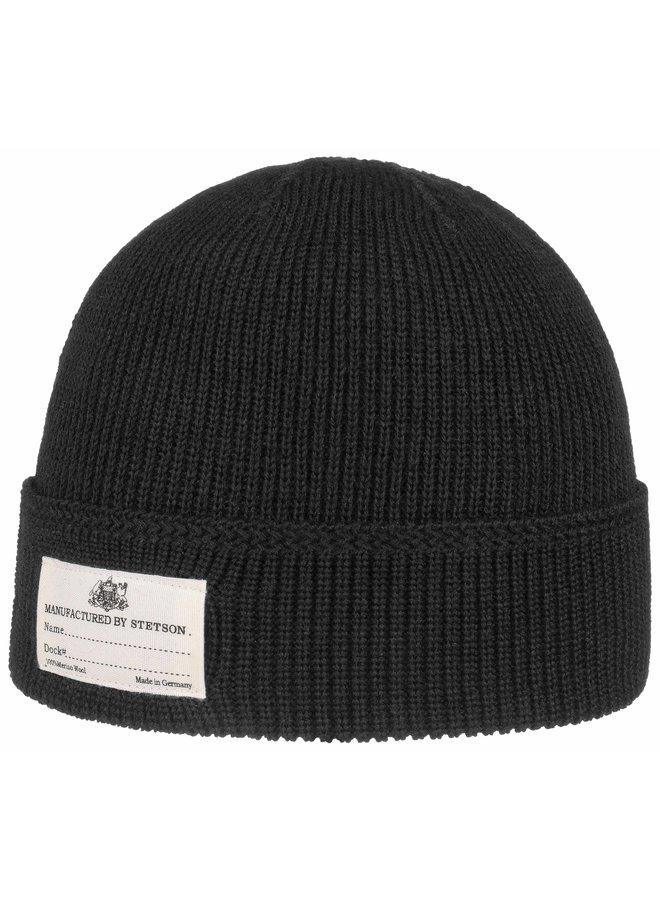Stetson 8599319 1 Beanie Merino Wool Black