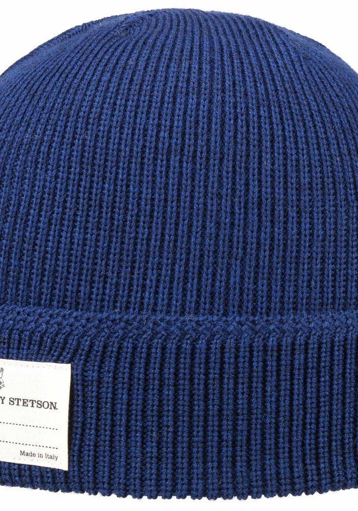 Stetson 8599319 22 Beanie Merino Wool Royal Blue