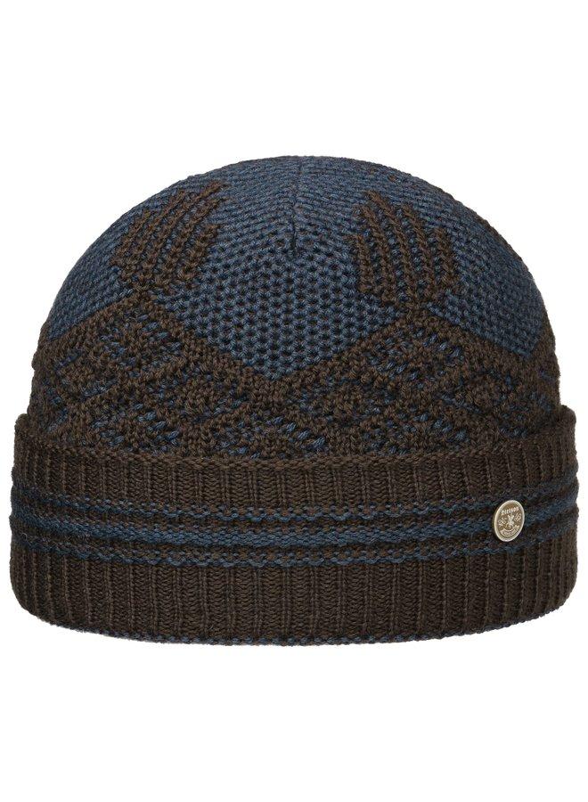 Stetson 8599350 62 Beanie Wool/Acrylic Brown Blue