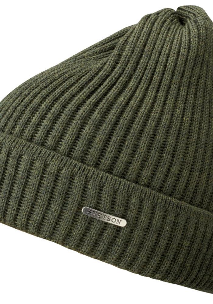 Stetson 8529301 52 Beanie Merino Wool Army