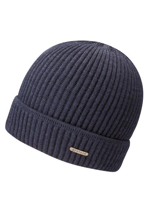 Stetson Stetson 8529301 2 Beanie Merino Wool Navy