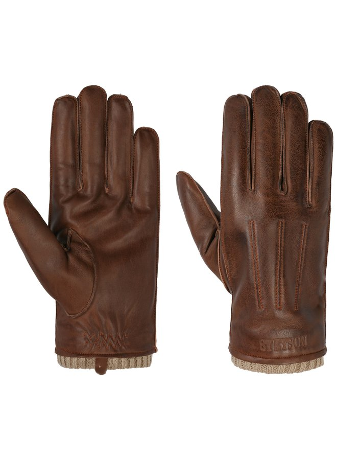 Stetson Gloves Sheepskin Brown