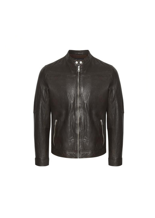 Matinique Matinique 30204799 Adron Soft Leather Jacket Dark Brown