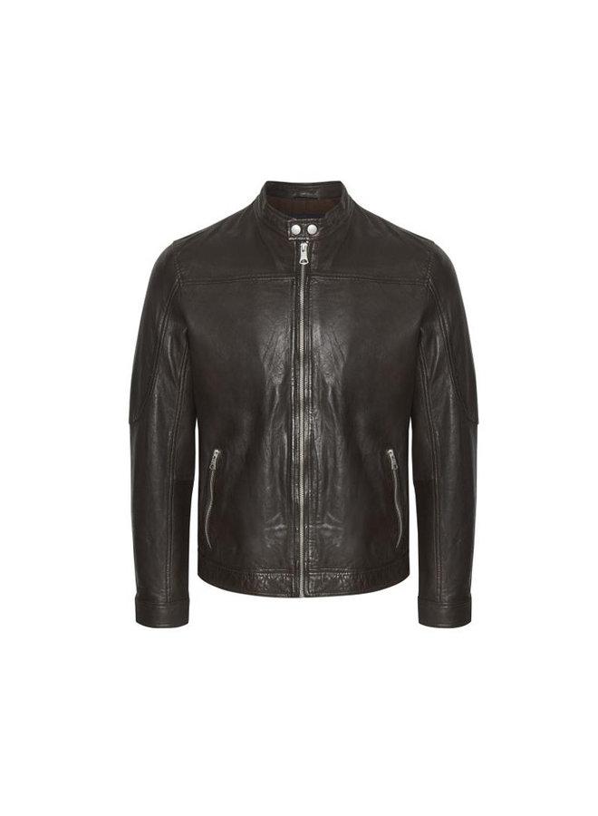 Matinique 30204799 Adron Soft Leather Jacket Dark Brown