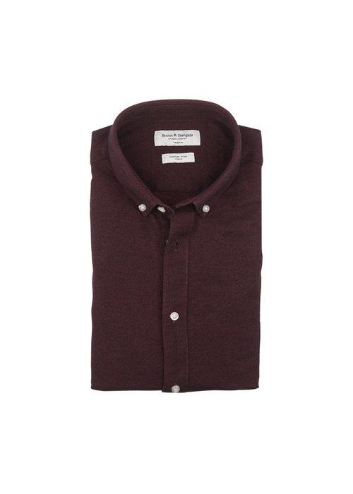 Bruun & Stengade Bruun & Stengade Osaka Shirt Bordeaux