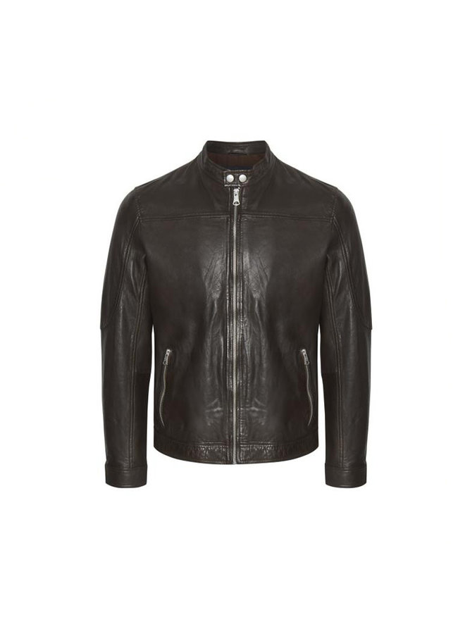 Matinique 30204799 Adron Soft Leather Jacket Dark Brown