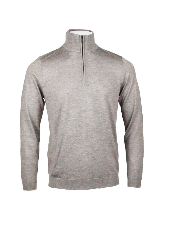 Circle  Zip Pullover Trento Taupe