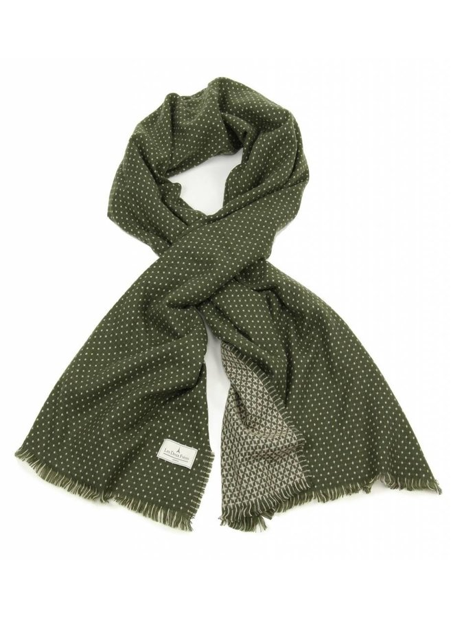 Les Deux Frères Shawl Dots Classic One Size Army Cream