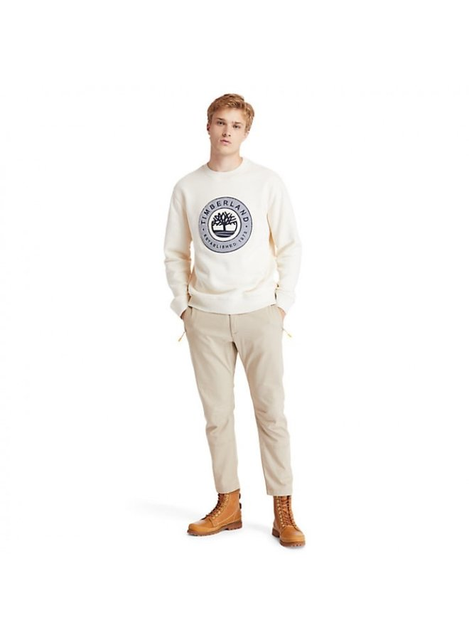 Timberland Boucle Sherpa Crewneck Sweater White