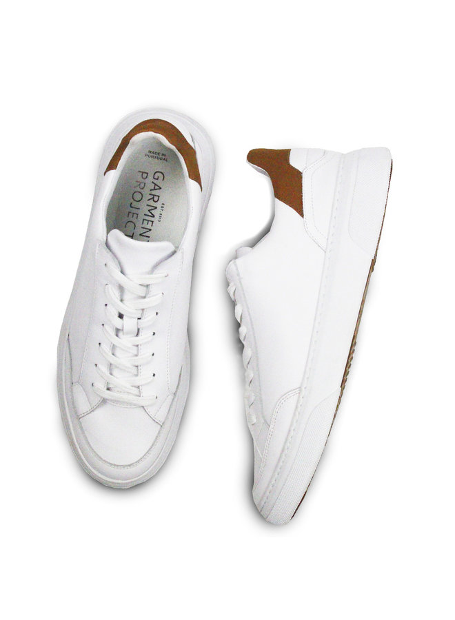 Garment Project Sneaker Off Court White Caramel Leather