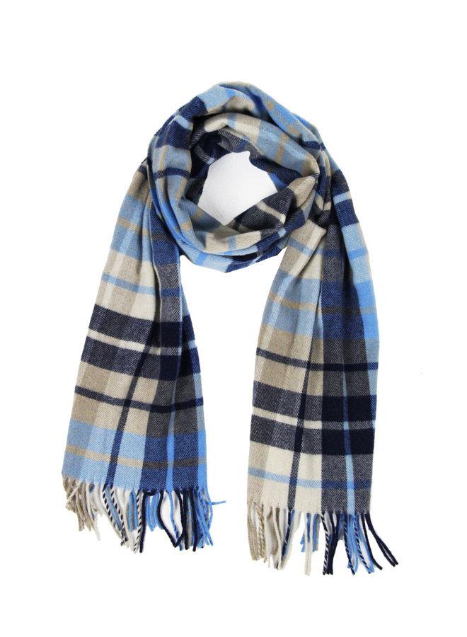 Drykorn 94692-3600 Shawl Blue Checkered