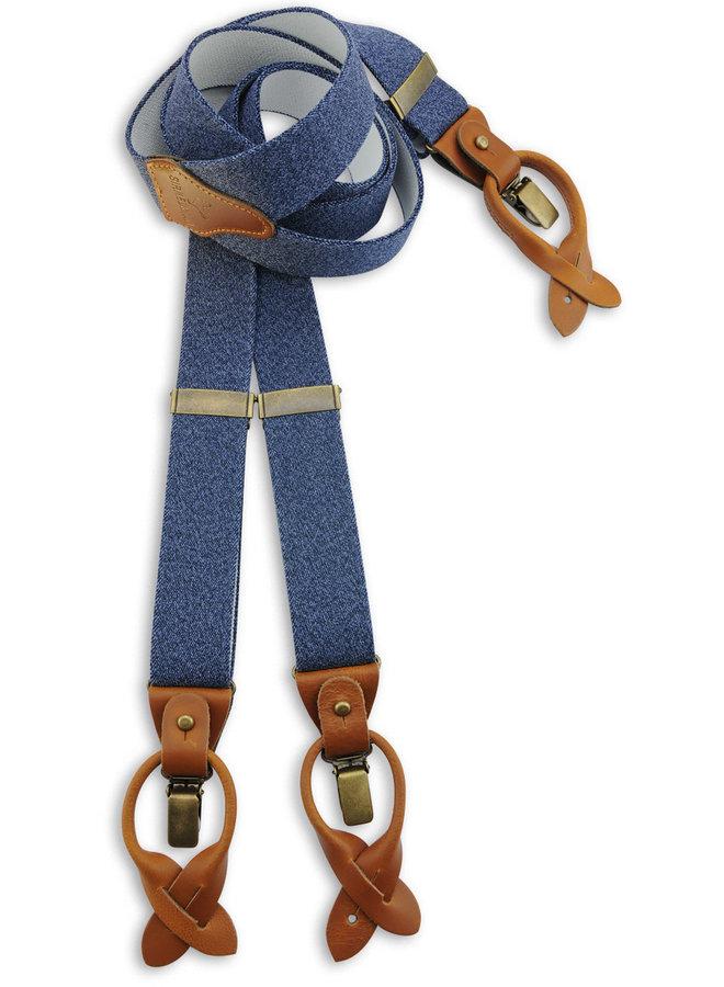 Sir Redman Luxe Suspenders Denim Urban Blues