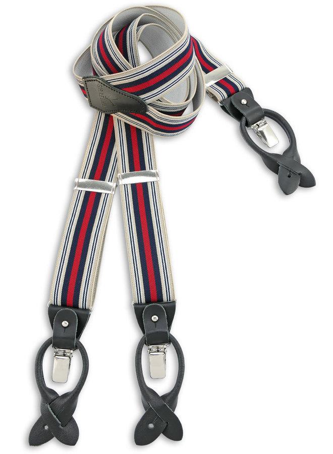 Sir Redman Deluxe Suspenders Dandy White / Navy