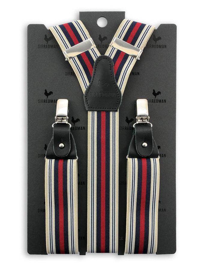 Sir Redman Luxe Bretels Dandy White / Navy