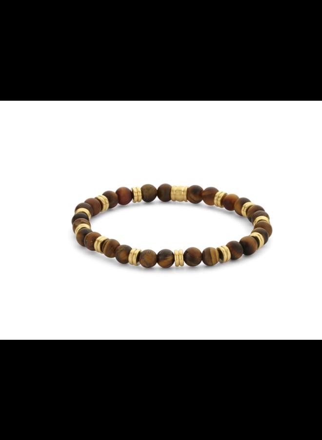 Frank 1967 7FB-0464 Bracelet Natural Stone Brown Gold