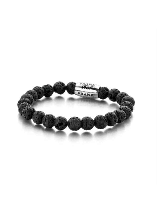 Frank 1967 7FB-0050 Bracelet Lava Stone Beads Black