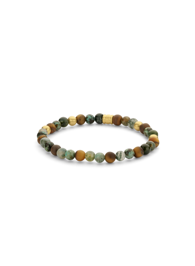 Frank 1967 7FB-0461 Bracelet Beads  Green Gold