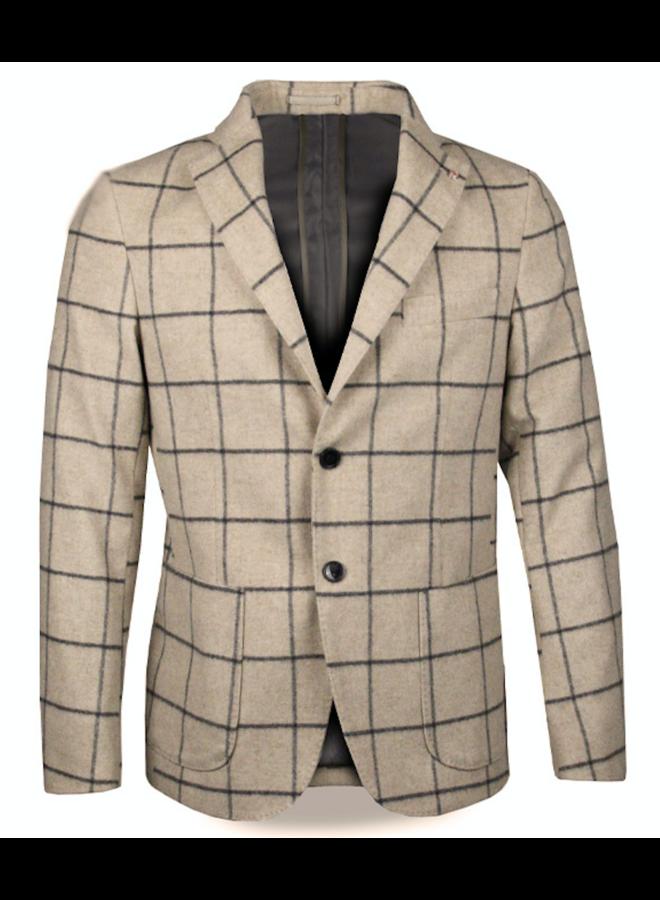QB 24 Gatsby Blazer Checkered Beige