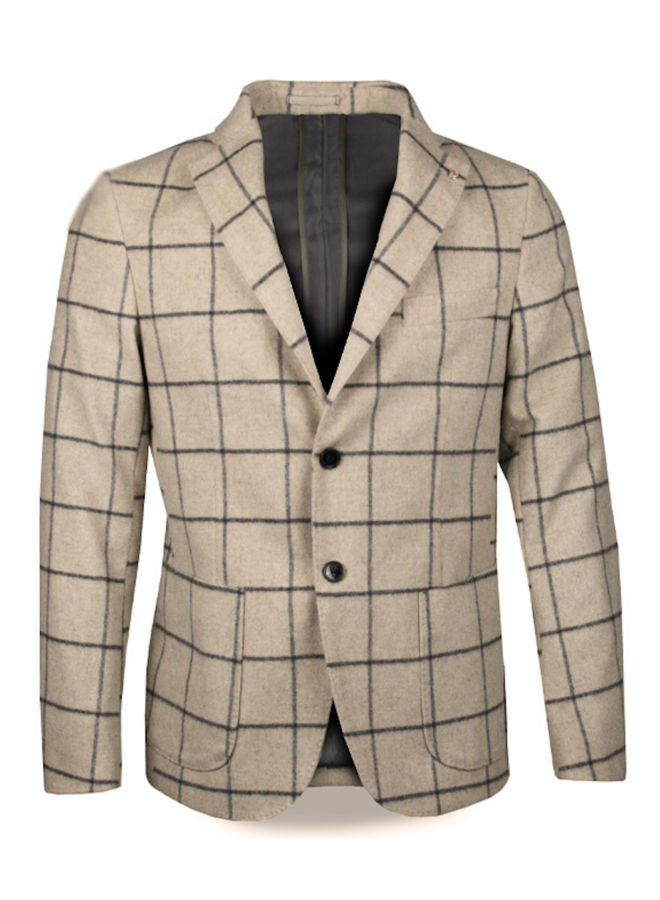 QB I 24 Gatsby Blazer Checkered Beige