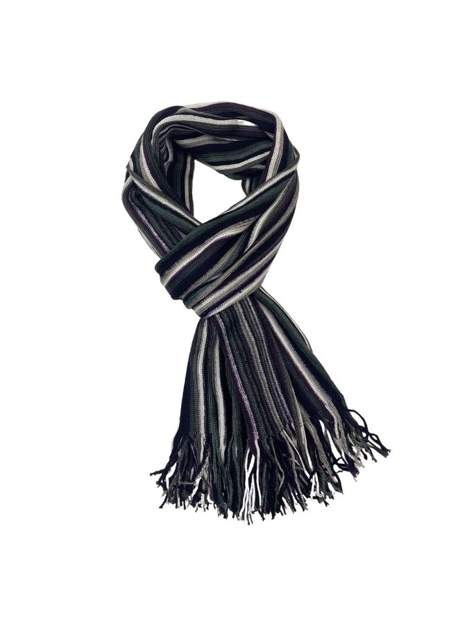 Les Deux Frères Pashmina Knitted Striped