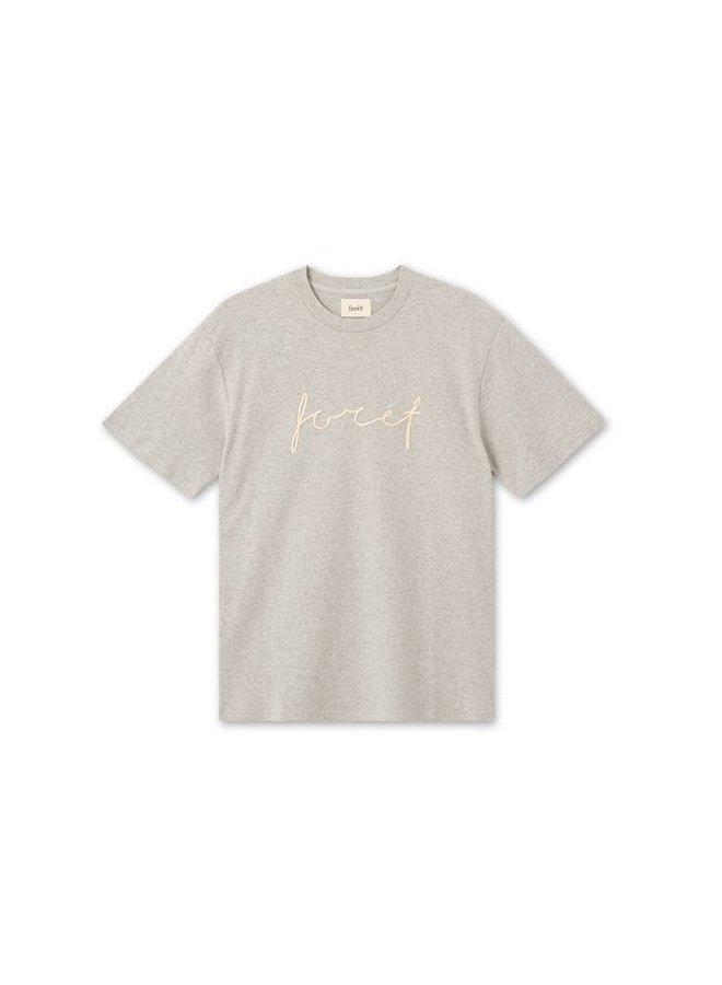 Forét Path T-Shirt Light Grey Melange