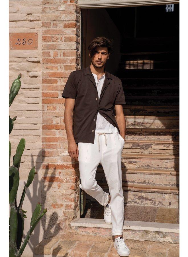 QB24 Shirt Camicia Marrone Testa di Moro