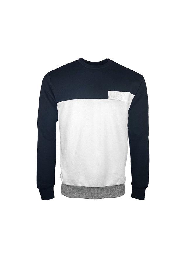 Colmar Sweatshirt Transfer Lettering Navy White
