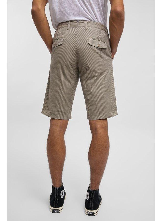 Drykorn Shorts Krink Beige Pinstripe