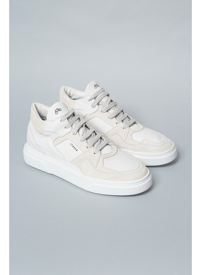 Copenhagen Sneakers Material Mix White