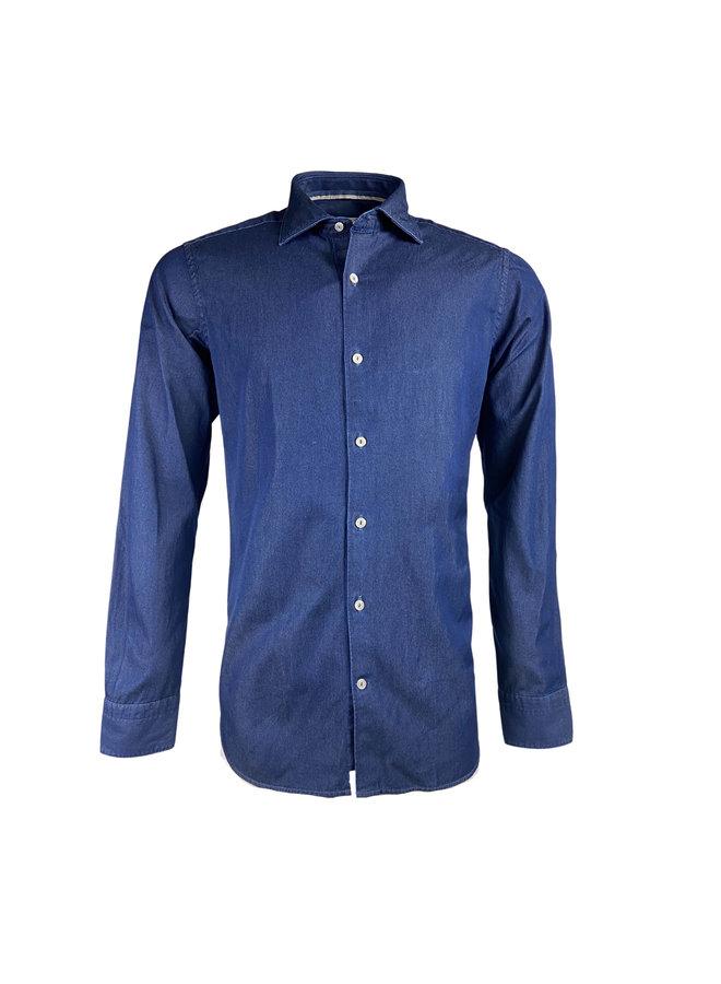 Tintoria Mattei 954 Navy Denim Shirt