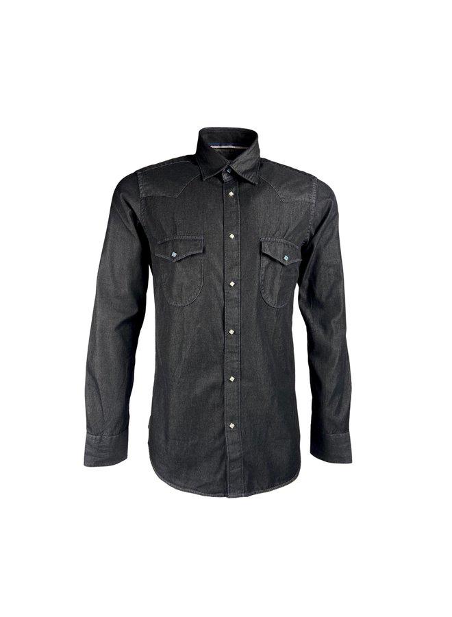 Tintoria Mattei 954 Dark Denim Shirt