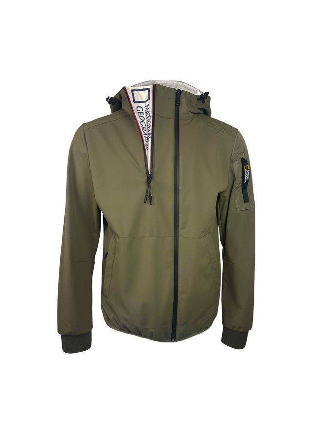 National Geographic Hooded Softshell Jacket Olive
