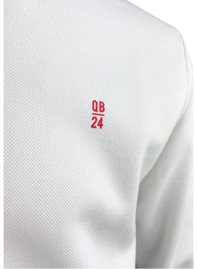 QB24 Felpa Sweatshirt Avorio Bianco Ivory