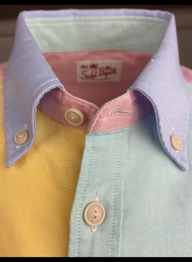 MC2 Saint Barth Button Down Shirt Oxford Multicolor