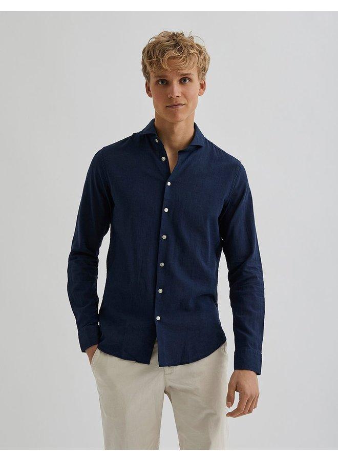 Bertoni Shirt Bart Dress Blue