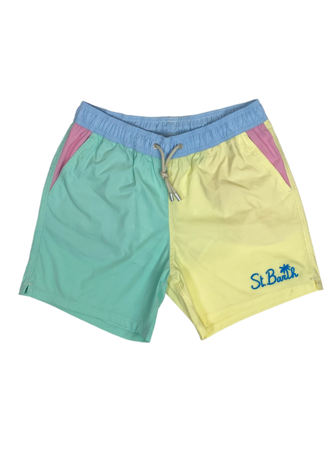 MC2 Saint Barth Swim Shorts Gustavia Pocket Multicolor