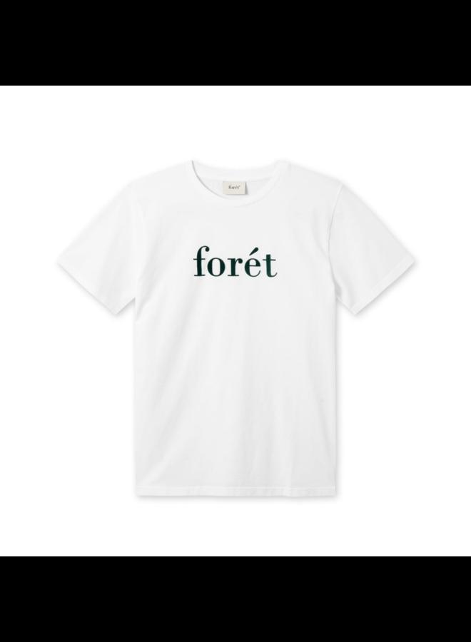 Forét Resin T-Shirt White / Dark Green