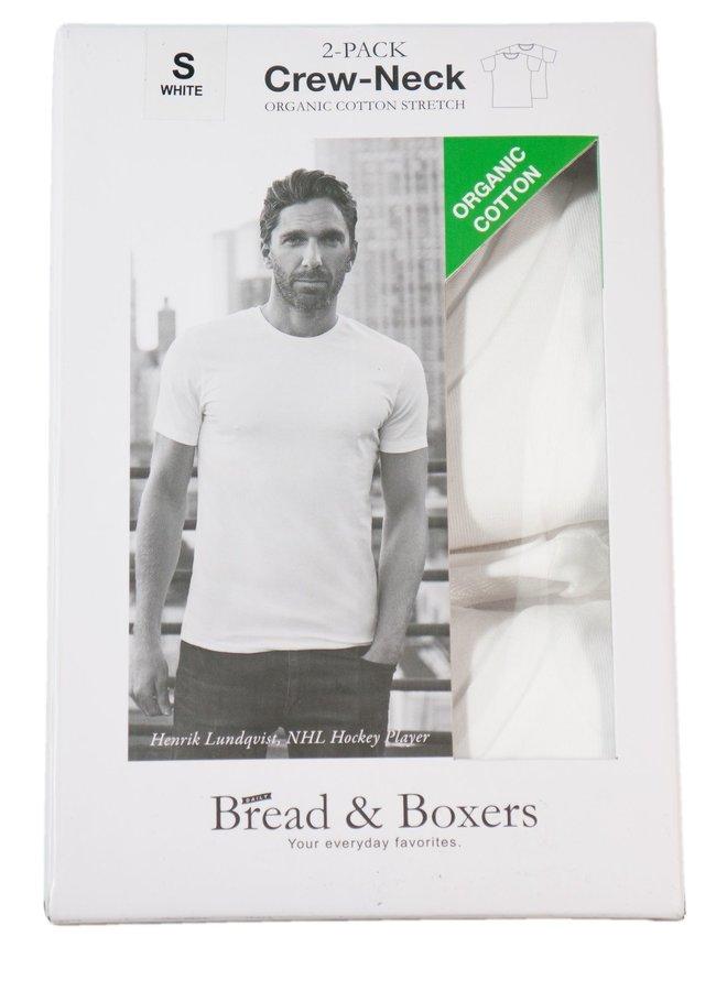 Bread & Boxers Crewneck 2-Pack White