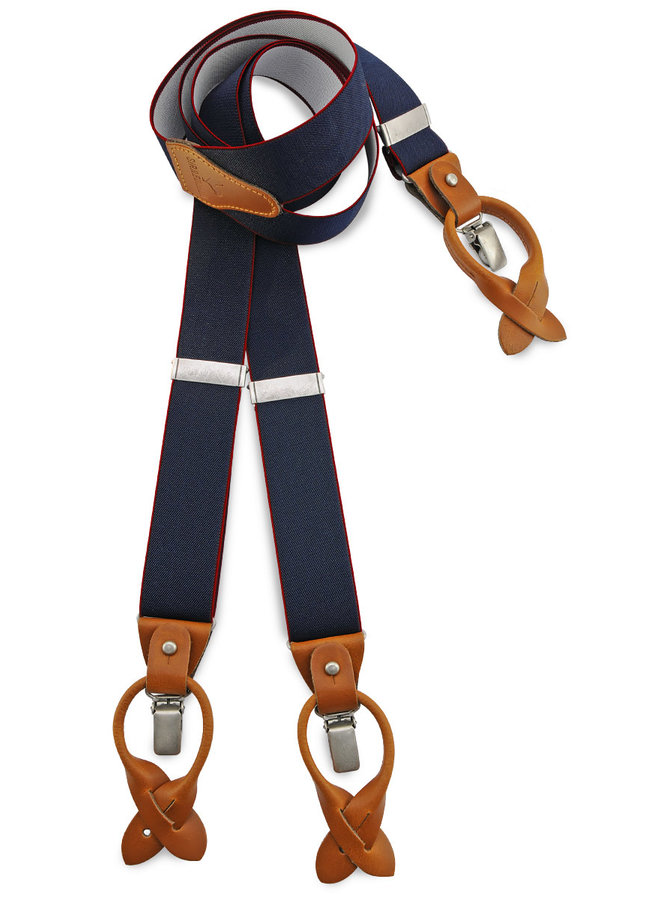 Sir Redman Deluxe Suspenders Mr. Outline Navy