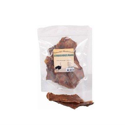 Gedroogde Struisvogel maag 100 gr, Een heerlijk tussendoortje voor je hond en onweerstaanbaar lekker.