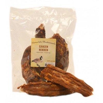 Heerlijke gedroogde ganzen nekken 200 gram, kauwsnack voor de hond.