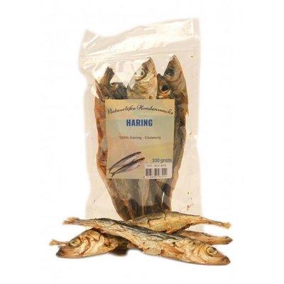 Gedroogde haringen 100 gram, een lekkere en natuurlijke snack voor de hond.