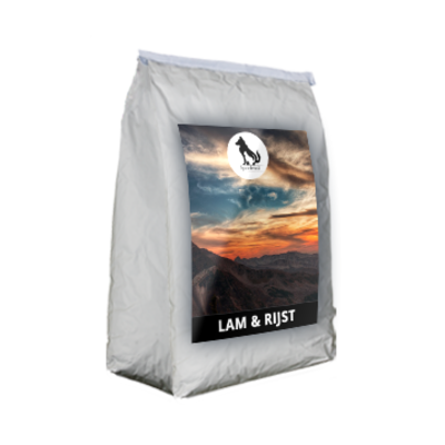 Onze Lam & Rijst brok is een koud geperste brok voor volwassen honden in de kracht van hun leven.