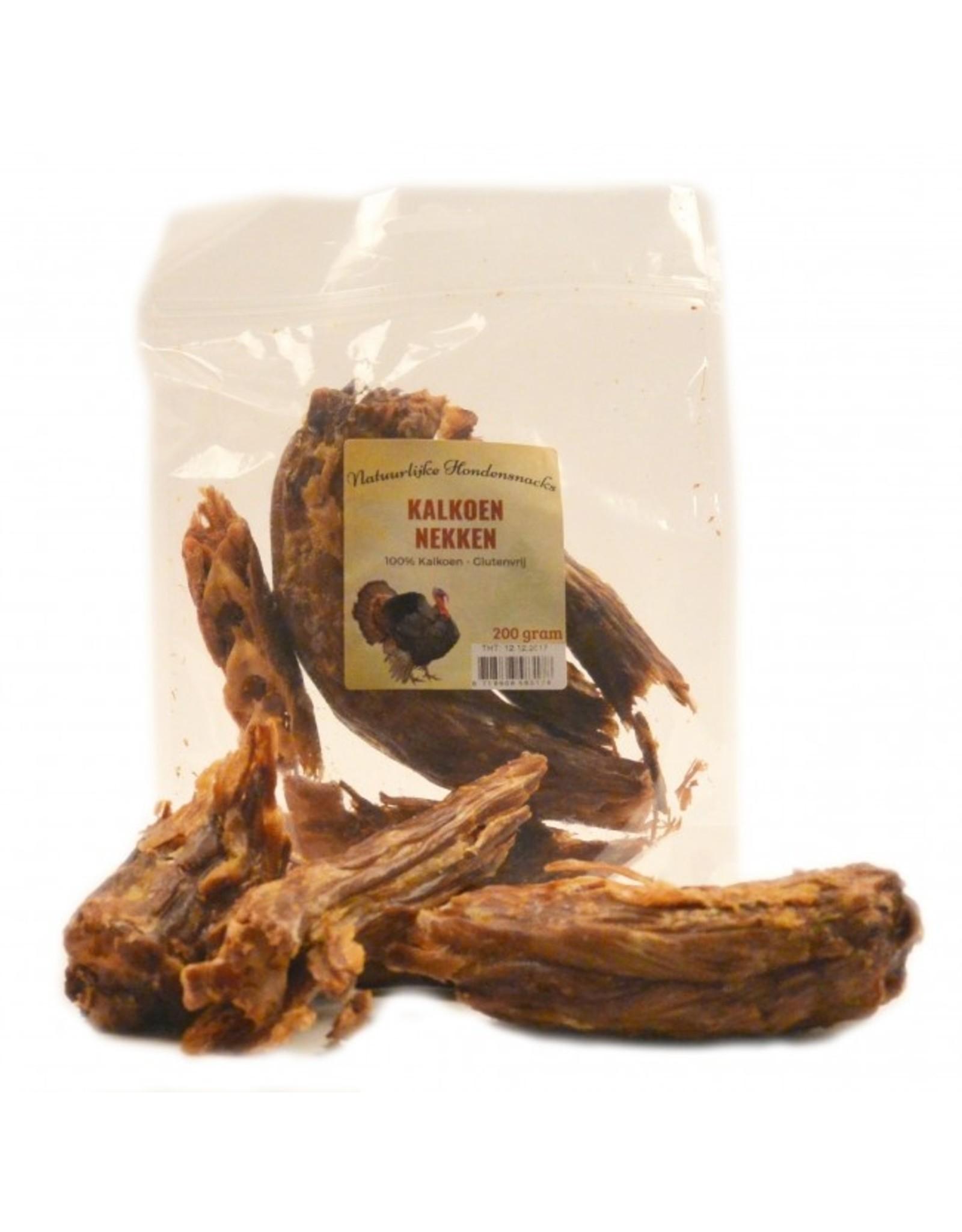 Heerlijke gedroogde Kalkoen nekken 200 gram.