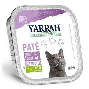 Yarrah 16x yarrah cat kuipje wellness pate kip/kalkoen aloe vera