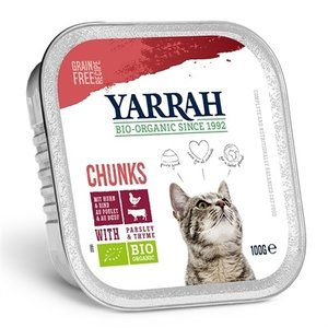 Yarrah 16x yarrah cat kuipje brokjes kip/rund